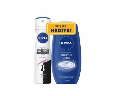 NIVEA INVISIBLE CLEAR DEO 150 ML+DUS JELI HD.