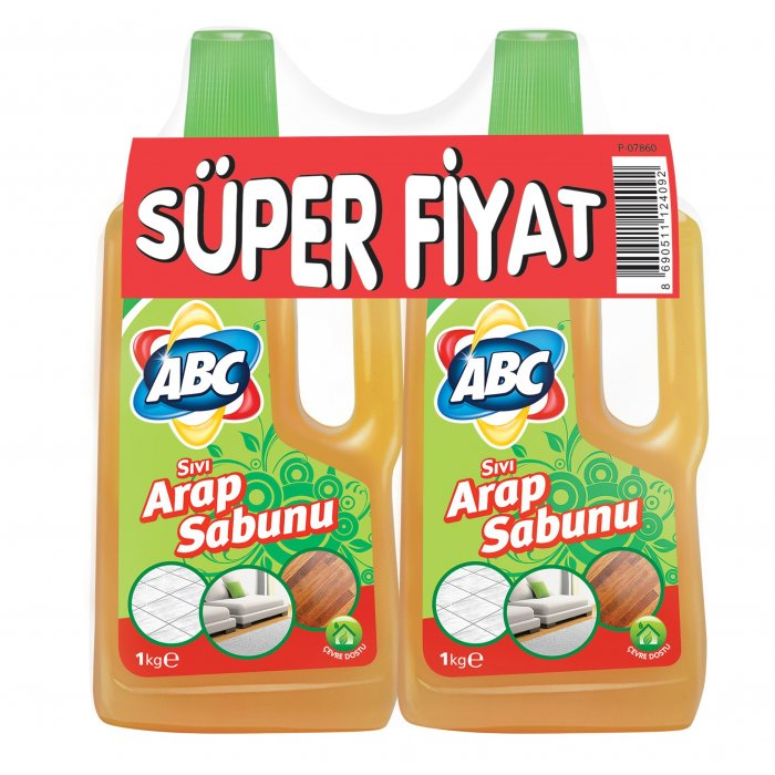 ABC SIVI ARAP SABUNU 900 ML+900 ML
